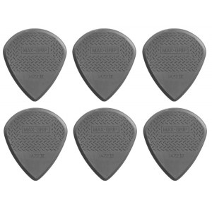 JIM DUNLOP 471P3C Nylon Jazz III Max Grip Pack Plektrum (6 Stück), carbon fiber