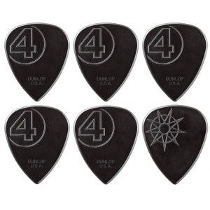 JIM DUNLOP Jim Root Custom Nylon Signature Picks Plektrum (6 Stück), schwarz