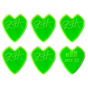 JIM DUNLOP Kirk Hammett Jazz III Pick Pack 1.38 mm Plektrum (6 Stück), green