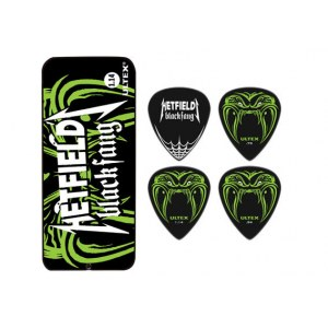 JIM DUNLOP Ultex Hetfield Black Fang Box 0,94mm Plektren, schwarz (6 Stück) - PH112T094