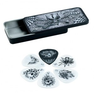 JIM DUNLOP James Hetfield Pick Tin Box 0,88mm Collector Plektren (6 Stück) - JPH01T.88