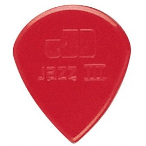 JIM DUNLOP 47R-N Nylon Jazz III sharp 1,38mm Pack Plektrum, rot (6 Stück)