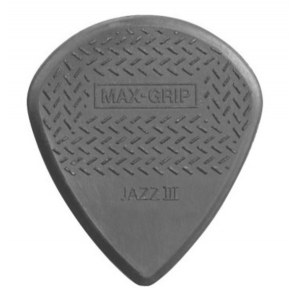 JIM DUNLOP 471P3C Nylon Jazz III Max Grip 1,38mm Plektrum (Stück), carbon fiber