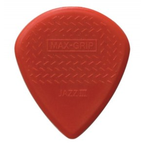 JIM DUNLOP 471P3N Nylon Jazz III Max Grip 1,38mm Plektrum (Stück), red