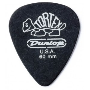 JIM DUNLOP 488P Tortex Pitch Standard Black 0,60mm Plektrum (Stück)