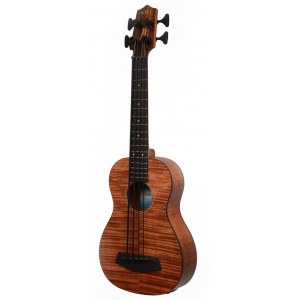 KALA U-Bass EM FS Figured Exotic Mahogany Body Ukulelen Bass inkl. Gigbag