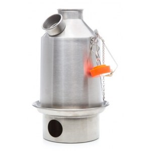 KELLY KETTLE Medium Scout Kelly Kettle Kessel 1,2l Notfall-Ausrüstung (Stainless steel)