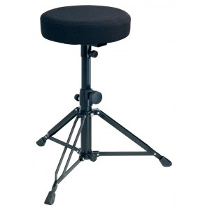 K&M 14016 Throne Drumhocker, runder Stoffsitz