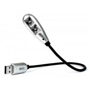 K&M 85682 Mighty Bright 2 LED-Notebookleuchte USB Light, silber