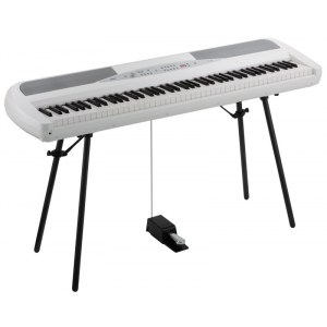 KORG SP-280 WH Stagepiano inkl. Stativ, Pedal, Netzteil, weiss