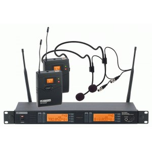 LD-SYSTEMS WS-1000 BPH2 Dual Vocal Headset UHF-Drahtlossystem inkl. Koffer.