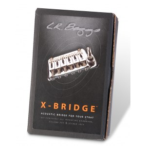 L.R. BAGGS XB-FXG Gold Piezo X-Bridge (fixed) Piezo-Brücke Strat-Style-Gitarren, USA-spacing