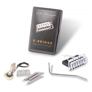 L.R. BAGGS XB-VIC Chrome X-Bridge Piezo Tremolo Piezo-Brücke Strat-Style-Gitarren, vintage-spacing