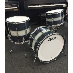 LUDWIG L6123LXU1 Club Date USA Shellset 22-13-16 Kesselsatz ohne Snare/Hardware, blue silver duco