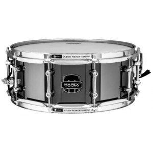 MAPEX AR4551CEB Tomahawk Armory Snare 14x5,5 Armory Snare Drum, black plated stahl / B-Ware