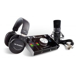 M-AUDIO M-Track 2x2 Vocal Studio Pro Set Audio-Interface inkl. Kopfhörer und Mikrofon