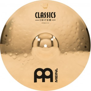 MEINL CC16MC-B Medium Crash Cymbal 16 Zoll Classics Custom Becken, brilliant