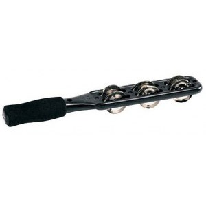 MEINL JG1BK Jingle Stick Schellenstab, schwarz