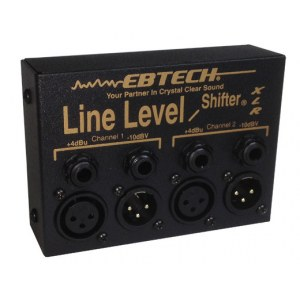EBTECH Hum Line Level Shifter LLS 2 XLR Line Level Shifter