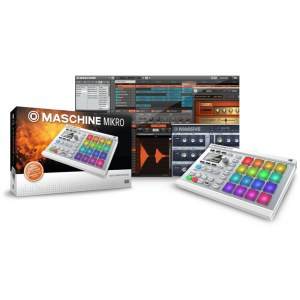 NATIVE INSTRUMENTS Maschine Mikro Mk2 White Hardware/Software-Groovebox
