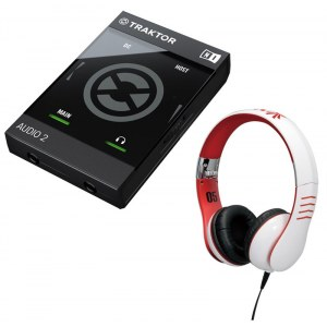 NATIVE Traktor Audio 2 Mk2 USB / HMX-05 WH Bundle Audio-Interface inkl. Vestax HMX-05 Kopfhörer
