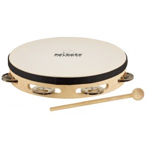 MEINL NINO47 Headed Tamburine 8 Zoll (1-reihig), natur
