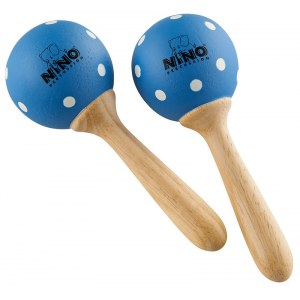 MEINL NINO7PD-B Small Wood Maracas, blau