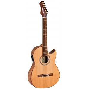 ORTEGA Flametal Two Ben Woods Signature Elektro-Akustik-Gitarre, natural