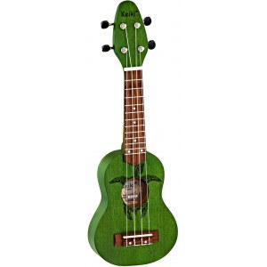 ORTEGA K1-GR Keiki Sopranino Tortiose/Turtle Ukulele, forest green