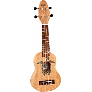 ORTEGA K1-MM Keiki Sopranino Tortiose/Turtle Ukulele, mahogany natural