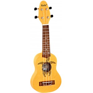 ORTEGA KEIKI K1-ORG Sopranino Tortiose/Turtle Ukulele, orange
