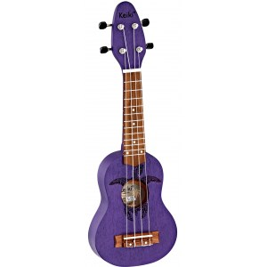 ORTEGA KEIKI K1-PUR Sopranino Tortiose/Turtle Ukulele, purple