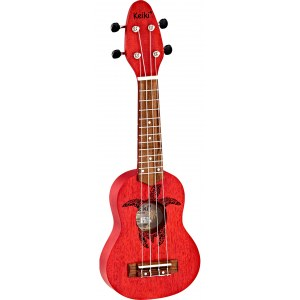 ORTEGA K1-RD Keiki Sopranino Tortiose/Turtle Ukulele, fire red