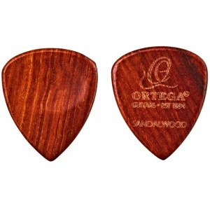 ORTEGA OGPW-SW2 Wooden Picks Curved Sharp Tip Standard Sandel Plektrum 2,5mm (2 Stück)