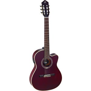 ORTEGA RCE139-T4STR 4/4 Konzertgitarre inkl. Gigbag/Gurt, stained red