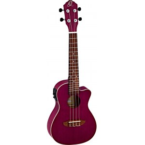 ORTEGA RURUBY-CE Earth Elektro-Akustik-Ukulele, transparent purple