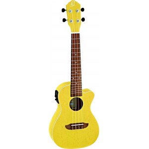 ORTEGA RUSUN-CE Earth Elektro-Akustik-Ukulele, transparent yellow