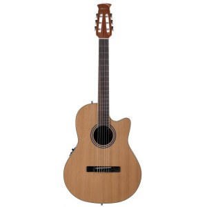 OVATION AB24CII Applause Balladeer Classical Mid Roundback Elektro-Akustik-Gitarre, natural satin