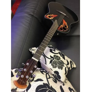 OVATION CE44-5 Celebrity Elite Mid Roundback black Cites: Dalbergia Latifolia, Indonesia, Altb.