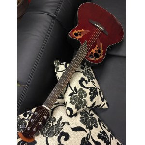 OVATION CE44-RR Celebrity Elite Mid Roundback Elektro-Akustik-Gitarre, ruby red