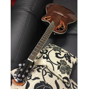 OVATION CE48P-TGE Celebrity Elite Plus Shallow Roundback, tiger eye