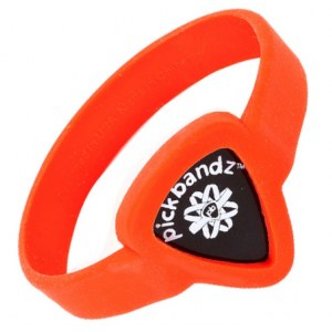 PICKBANDZ Armband Adult Large Fire Orange Silikonarmband für Plektrum / AL