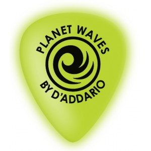 PLANET WAVES 1CCG4-10 Cellu-Glo medium (10er Pack) Plektren, neon green