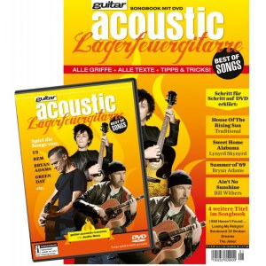 PPVMEDIEN Guitar Acoustic - Lagerfeuergitarre Best of Songs Songbook mit DVD