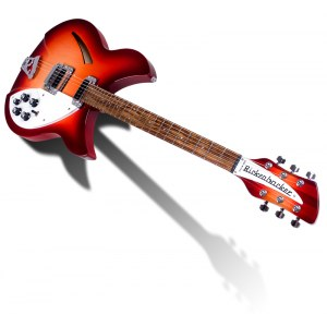 RICKENBACKER 330 FG Thinline Hollowbody E-Gitarre inkl. Koffer, fire glow