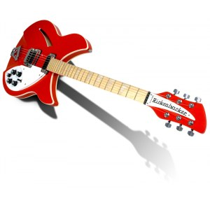 RICKENBACKER 360 FAR Hollowbody E-Gitarre inkl. Koffer, fire alarm red