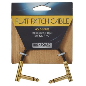 ROCKBOARD CAB PC F 10 GD Gold Series Flat Patch Cable 10 cm (3 15/16Zoll)