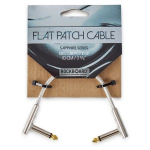 ROCKBOARD CAB PC F 10 SP Saphhire Patchkabel WKl-WKl, transparent, 10cm