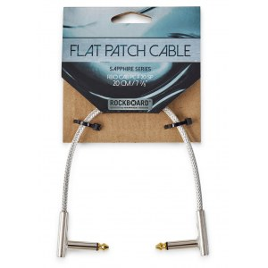 ROCKBOARD CAB PC F 20 SP Saphhire Patchkabel WKl-WKl, transparent, 20cm