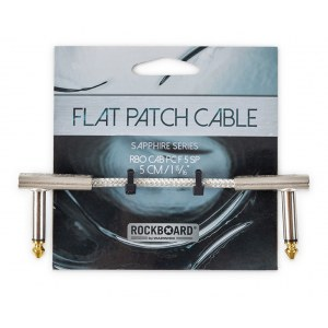 ROCKBOARD CAB PC F 5 SP Saphhire Patchkabel WKl-WKl, transparent, 5cm